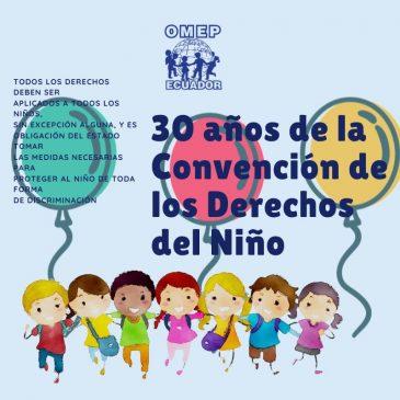 20 de noviembre se comemoran los 30 años de la Convención de los Derechos de los Niños.